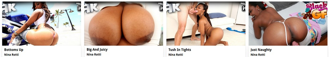 Busty black Pornstar Nina Rotti