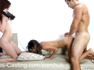 Threesome interracial casting