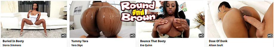 Round And Brown - Black Butts fucked