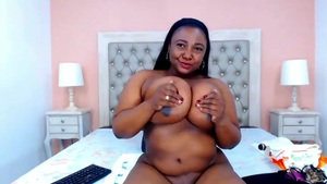 BBW ebony Milf masturbating