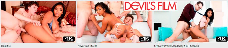 Ebony pornstar Nia Nacci - Best sex scenes on Devils Film